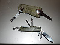 Нож складной в чехле - 8 предметов армейский.