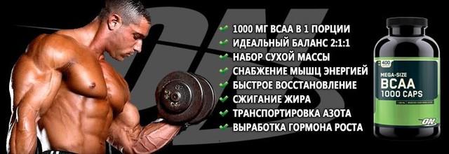 BCAA 1000 Optimum Nutrition 400 капсул