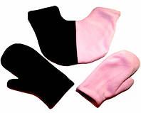 Подарить девушке варежки для влюбленных (черно розовые)