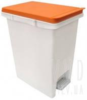 Ведро для мусора с педалью Arino 10л оранжевое