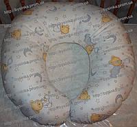 Подушка для кормления ребенка и беременных со съемной наволочкой Мишка на подушке- Белый