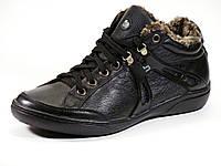Ботинки на меху зимние черные натуральная кожа Babulon, фото 1