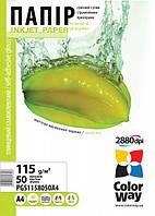 Фотобумага ColorWay самоклеющая глянцевая 115г/п, A4, 50л
