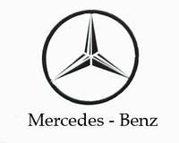 """Наклейка значек """"Mercedes-Benz""""  180*180 мм"""