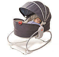 Кресло - кроватка - качалка 3 в 1  «Мамина любовь» с капюшоном