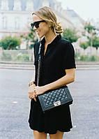 Шикарная дамская сумочка на плечо, в стиле chanel boy, классический дизайн, кожа pu, ремень-цепочка, 25*16 см