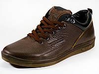 Спортивные туфли мужские коричневые натуральная кожа , фото 1