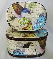 Шкатулка овальная набор из 2-х - Птица