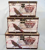 Шкатулка набор из 3-х - Корона