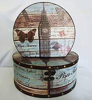 Шкатулка круглая набор из 2-х - Биг Бен