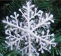 Снежинка новогодняя, наклейка, 6см