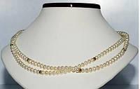 Жемчужное ожерелье с золотом 14К. Шик и блеск!