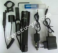 Фонарь Police 12v 8639Q XPE (фонарик) подствольный тактический для охоты мощный светодиодный, аккумуляторный