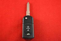 Mazda 3, 6, cx-7, cx-9 выкидной ключ  чип 4D ID63 433Mhz 3 кнопки