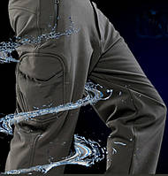 Утепленные непромокаемые мембранные брюки олива