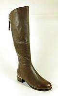 Женские зимние сапоги коричневого цвета