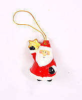 Елочная игрушка Дед Мороз снеговик