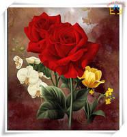"""Набор алмазной вышивки (мозаики) """"Розы с орхидеями"""""""