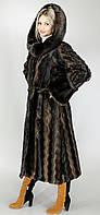 Длинная женская шуба больших размеров искусственная норка