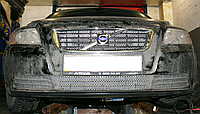 Декоративно-защитная сетка радиатора Volvo S40 фальшрадиаторная решетка, бампер