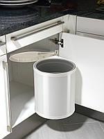 Ведро для мусора (встроенное) Hailo COMPACT BOX 15л. (белое)