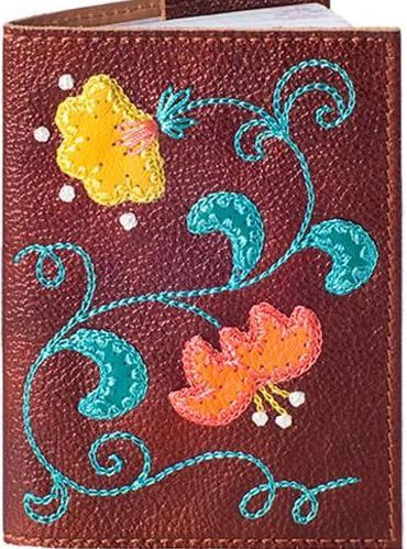 Женская кожаная обложка для паспорта от Елены Юдкевич UNIQUE U (ЮНИК Ю)  U2507706