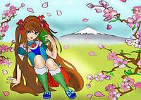 Картина-раскраска Лепестки сакуры (7123) 25 х 35 см