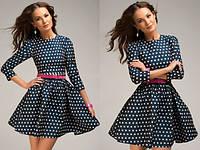Платье мини с узором сердечко 101