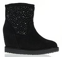 Стильные женские ботинки черного цвета на платформе. Очень легкие., фото 1