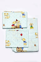 Комплект постельного белья в кроватку для новорожденных (мальчик)