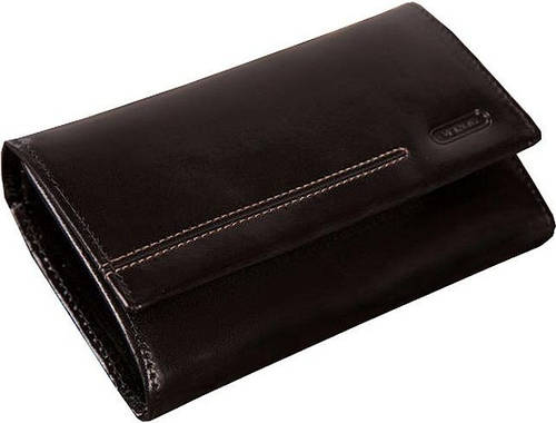 Кошелек-портмоне кожаный женский VERUS London, артикул: 29A LN черный