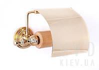 Держатель для туалетной бумаги с крышкой (золото)