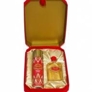 """Подарочный набор """"Красная Москва"""" (духи 42мл, дезодорант 75мл) в подарочной коробке с кисточкой"""