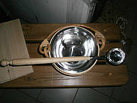 Ведро для ароматов в сауну нерж. вставка на 4 л