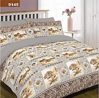 Комплект постельного белья 9145 ранфорс 100% хлопок ТМ Вилюта Украина серый тигры