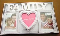 Рамка коллаж (FAMILY) на 3 фото