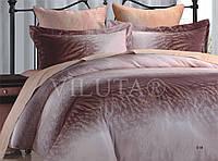 Постельное белье 519 сатин твил ТМ Вилюта Украина 100% хлопок коричневый Киев