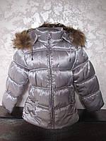 Куртка зимняя для девочки на холлофайбере