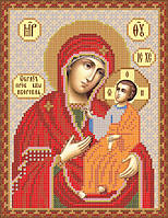 """Схема на атласе для вышивки бисером """"Иверская икона Божьей Матери"""""""