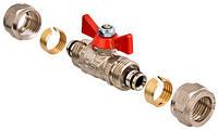 Кран шаровый под обжим для металлопластиковой трубы 16 Valtec VT.343.N.1616