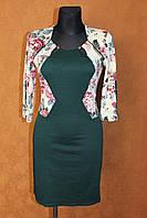 Платье костюм из рельефного принтованного трикотажа, размеры 44,46,48