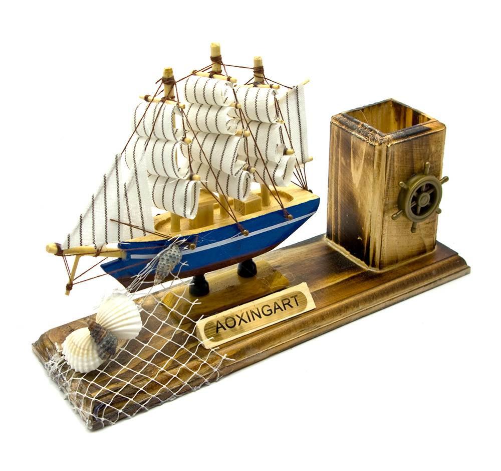 Корабль с подставкой для ручек код 25366