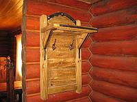 Вешалка под старину для бани