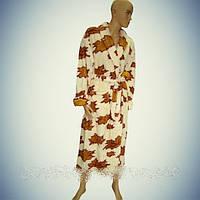 Женский махровый халат Soft (Длинный с воротником) Турция - ht-054