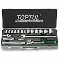 Набор инструментов для авто 3/8'' мет. ящик 18 ед.,(GCAD1806) TOPTUL