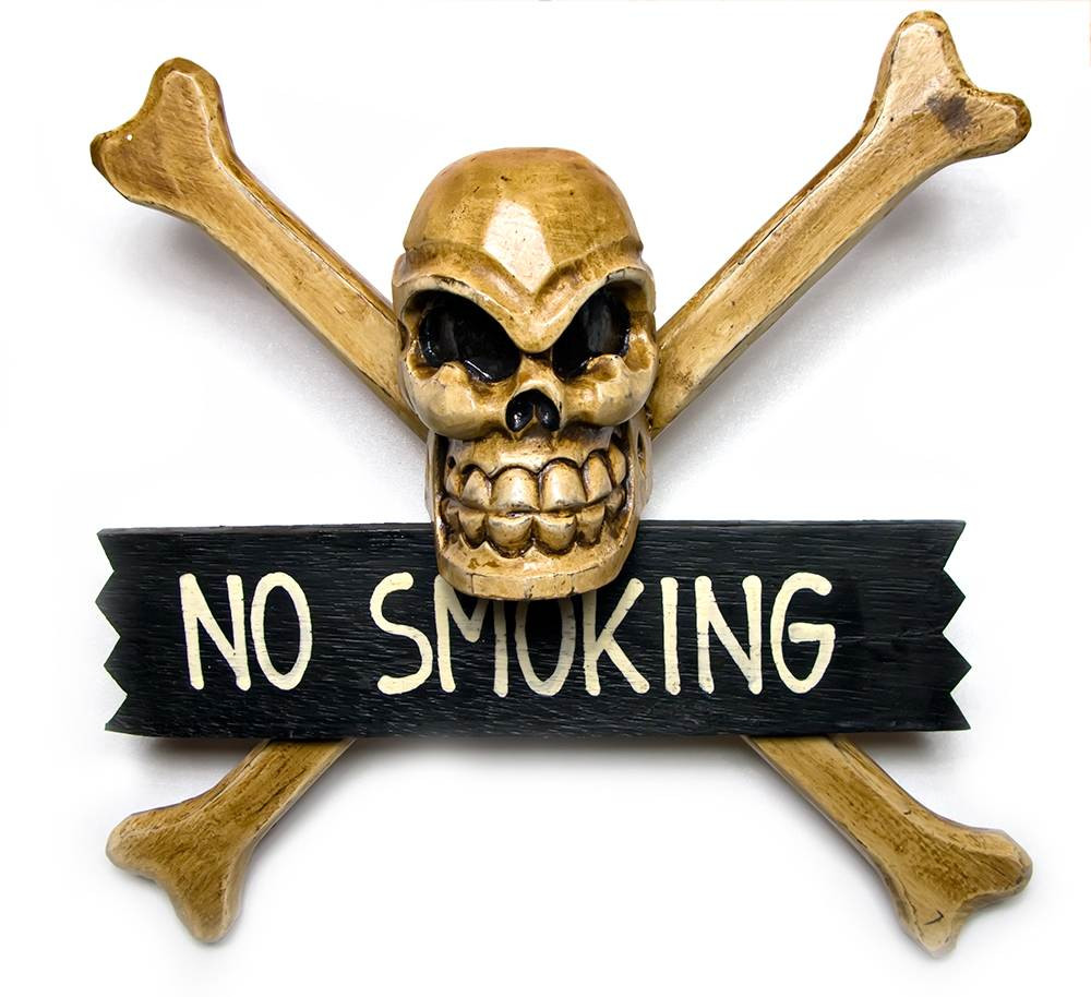 Панно Череп с костями No Smoking
