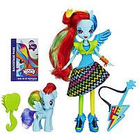 Набор кукла Радуга Рок Звезда с пони и гитарой. Куклы девочки пони эквестрии