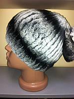 Меховая шапка из  стриженного кролика (рекса )