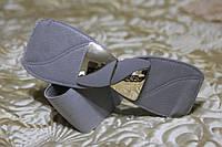Женский ремень - резинка Т 332 серый