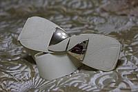 Женский ремень - резинка Т 332 белый